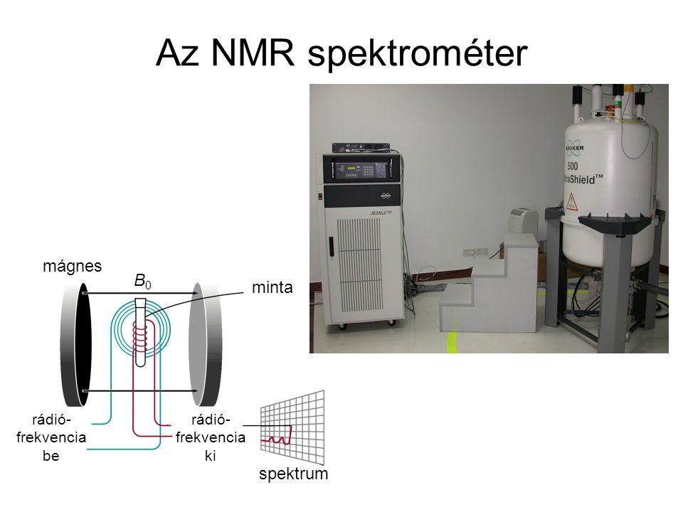 Az NMR spektrométer mágnes B0 minta spektrum rádió- frekvencia be