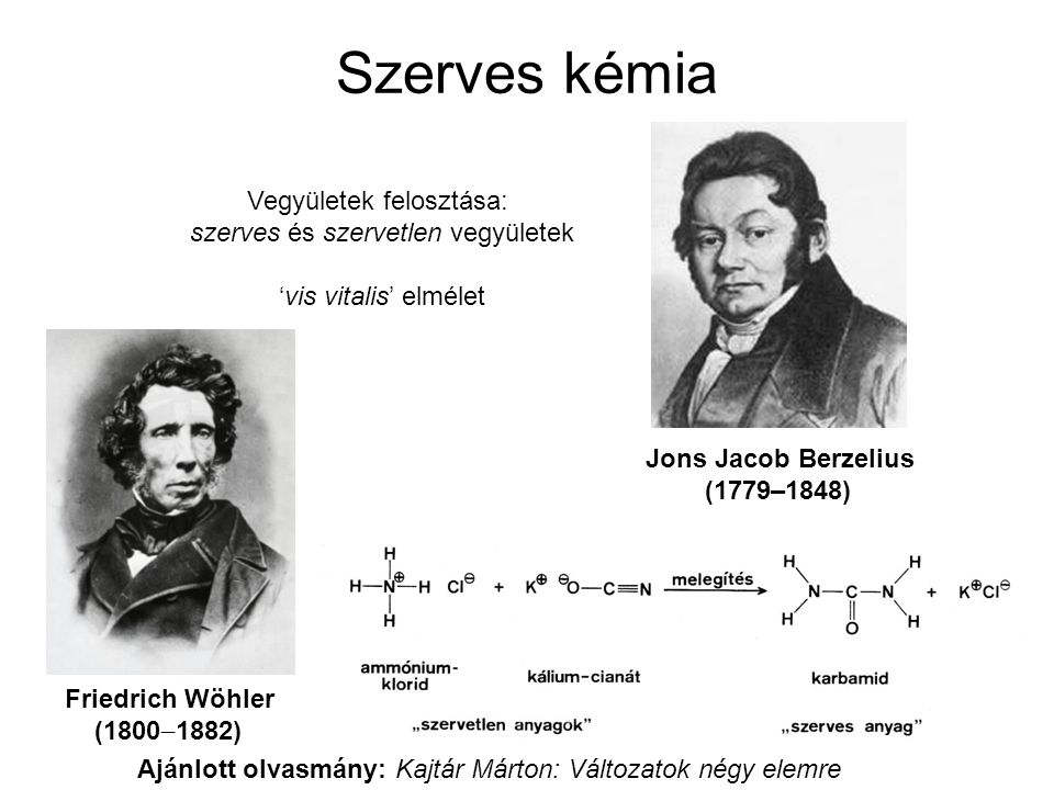 Szerves kémia Vegyületek felosztása: szerves és szervetlen vegyületek