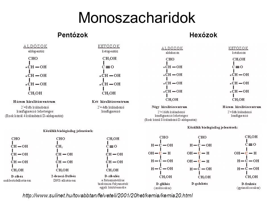 Monoszacharidok Pentózok Hexózok