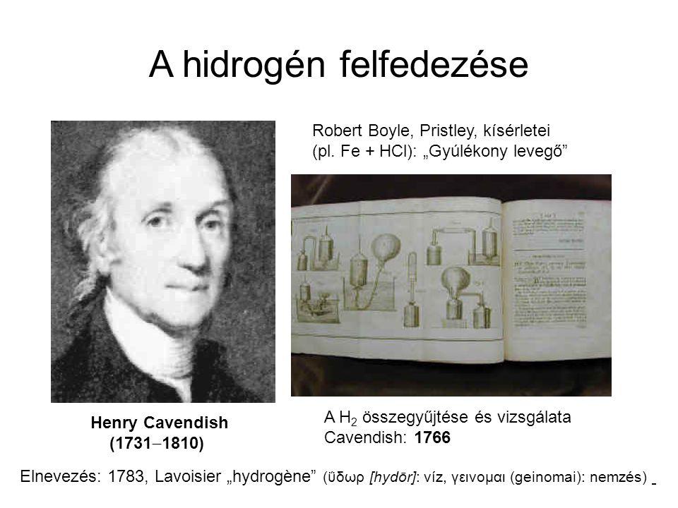 A hidrogén felfedezése
