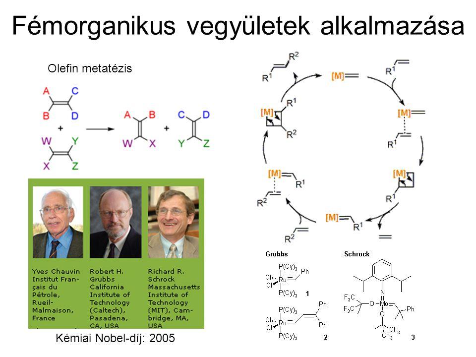 Fémorganikus vegyületek alkalmazása