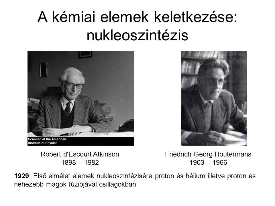 A kémiai elemek keletkezése: nukleoszintézis