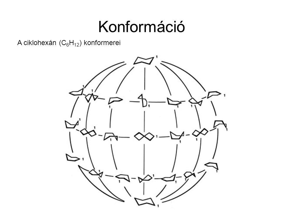Konformáció A ciklohexán (C6H12) konformerei