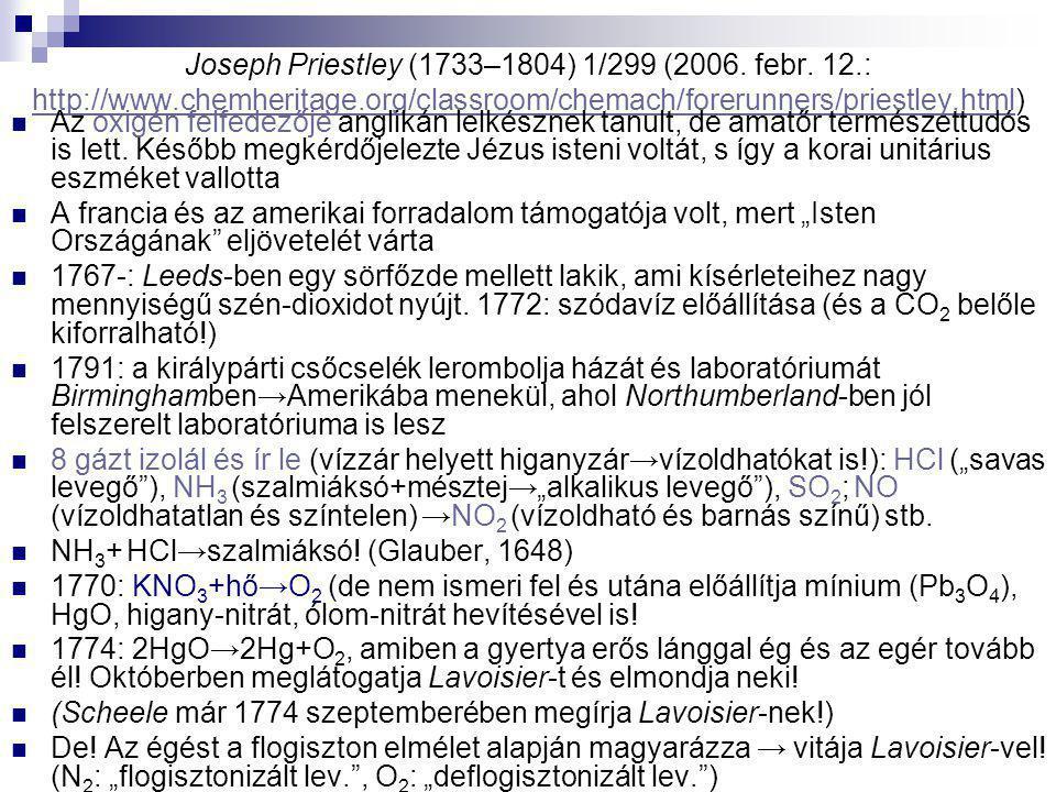 Joseph Priestley (1733–1804) 1/299 (2006. febr. 12. : http://www