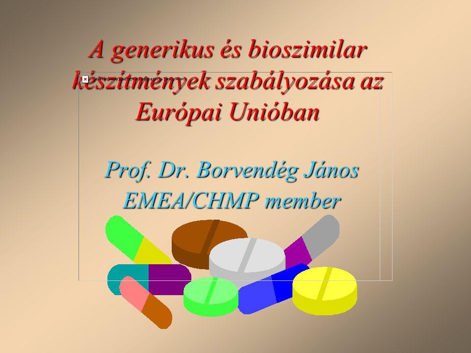 Prof. Dr. Borvendég János EMEA/CHMP member