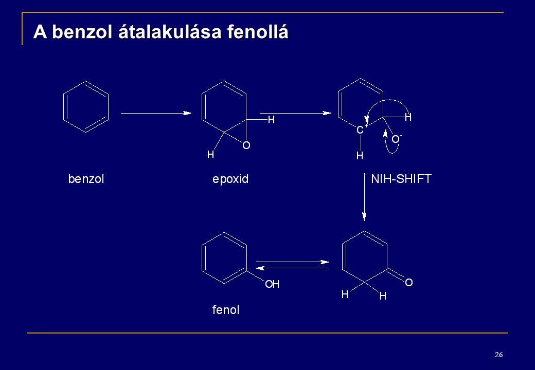 A benzol átalakulása fenollá