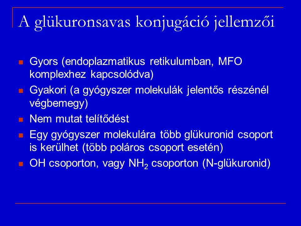 A glükuronsavas konjugáció jellemzői
