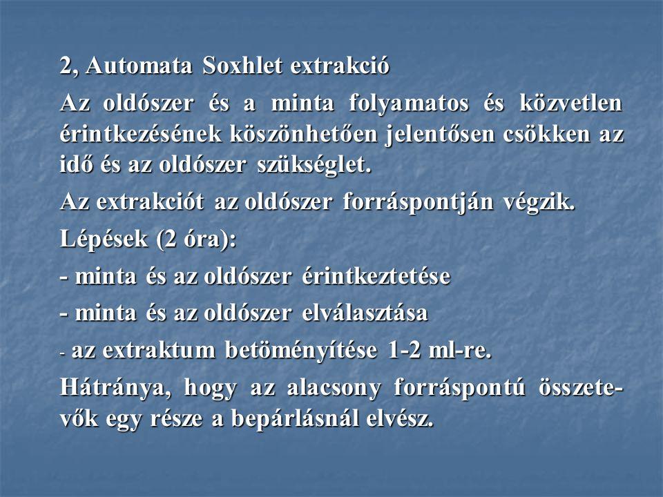 2, Automata Soxhlet extrakció