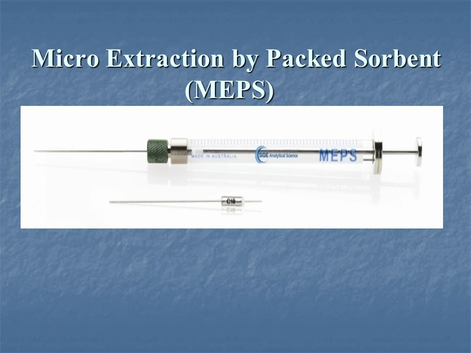 Micro Extraction by Packed Sorbent (MEPS)