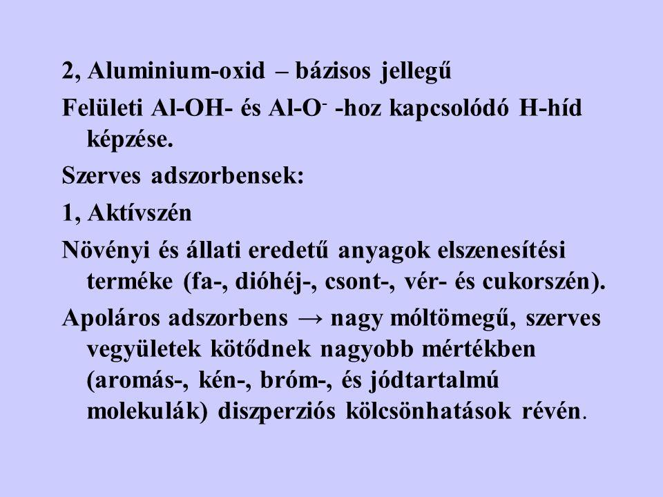 2, Aluminium-oxid – bázisos jellegű