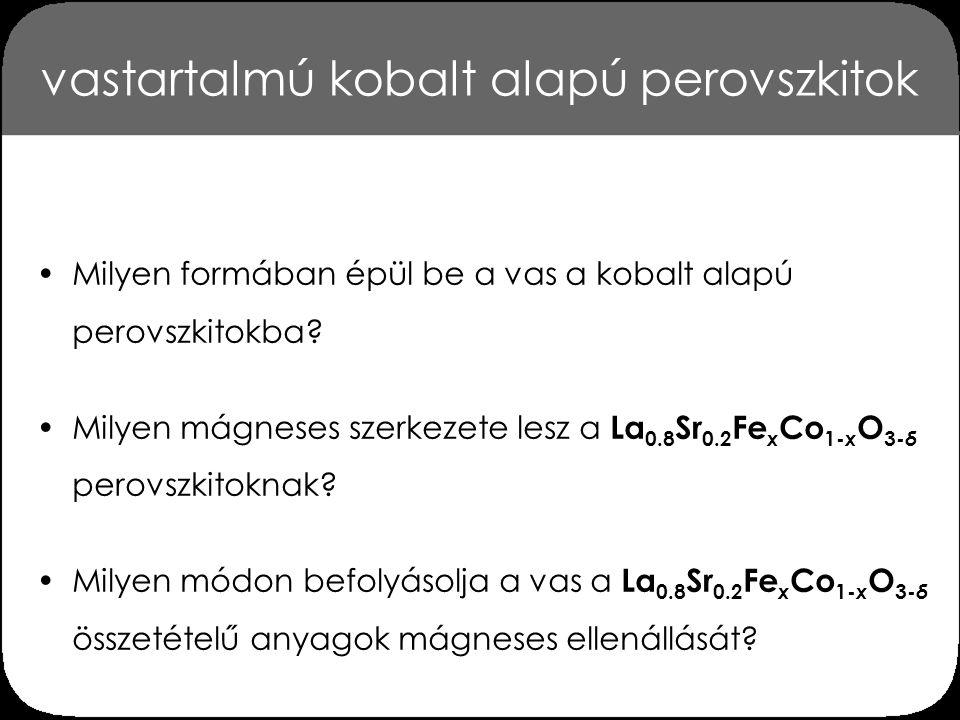 vastartalmú kobalt alapú perovszkitok