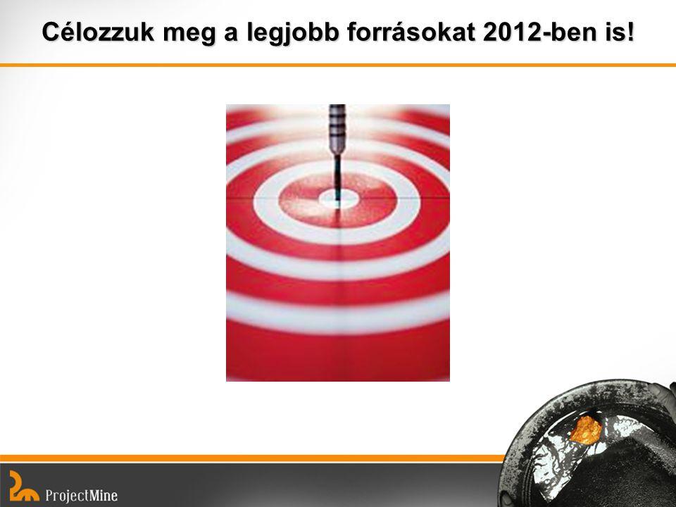 Célozzuk meg a legjobb forrásokat 2012-ben is!