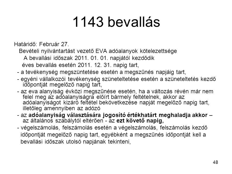 1143 bevallás Határidő: Február 27.