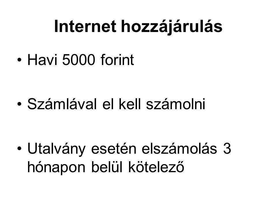 Internet hozzájárulás