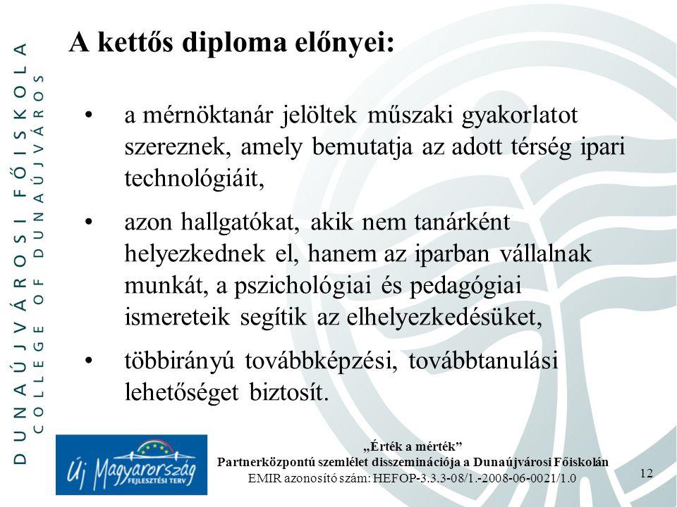 A kettős diploma előnyei: