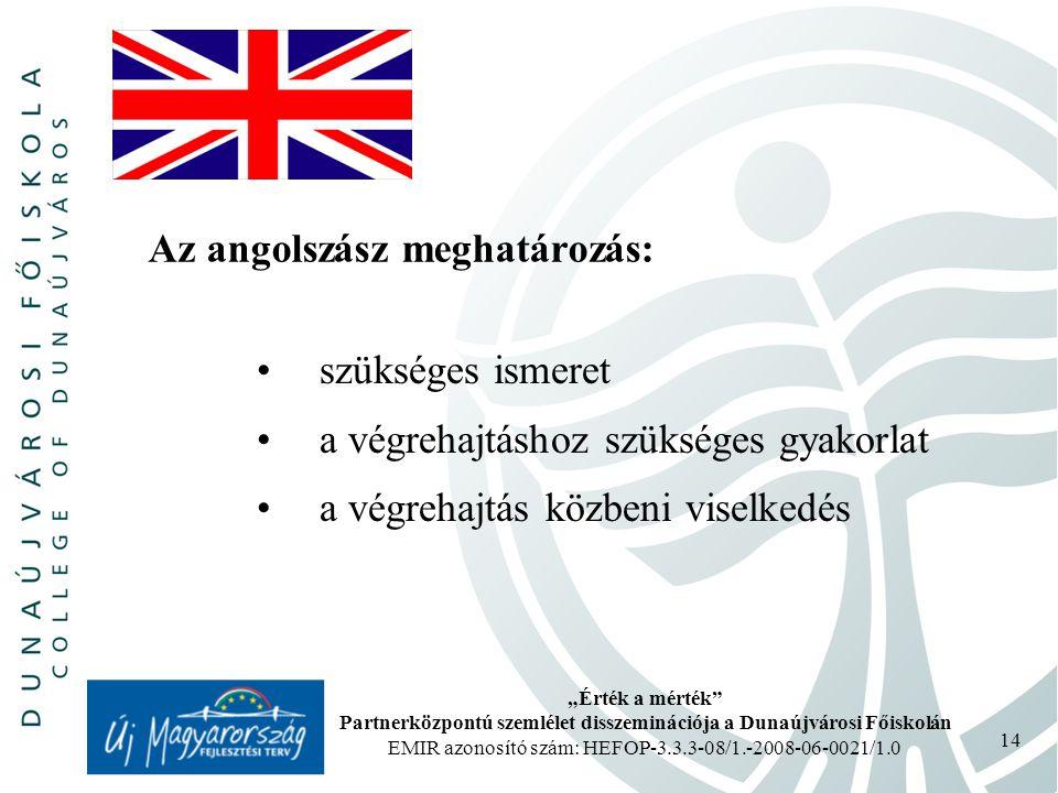 Az angolszász meghatározás: