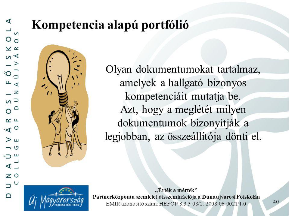 Kompetencia alapú portfólió