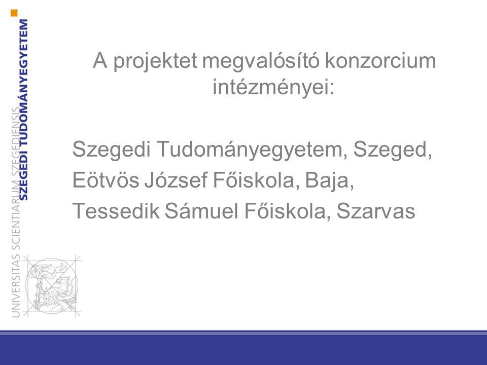 A projektet megvalósító konzorcium intézményei: