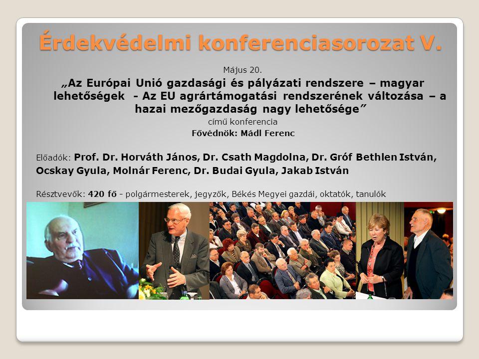 Érdekvédelmi konferenciasorozat V.