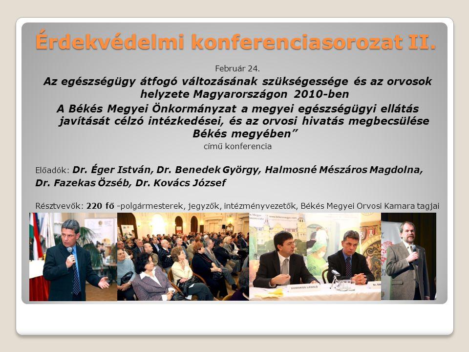 Érdekvédelmi konferenciasorozat II.