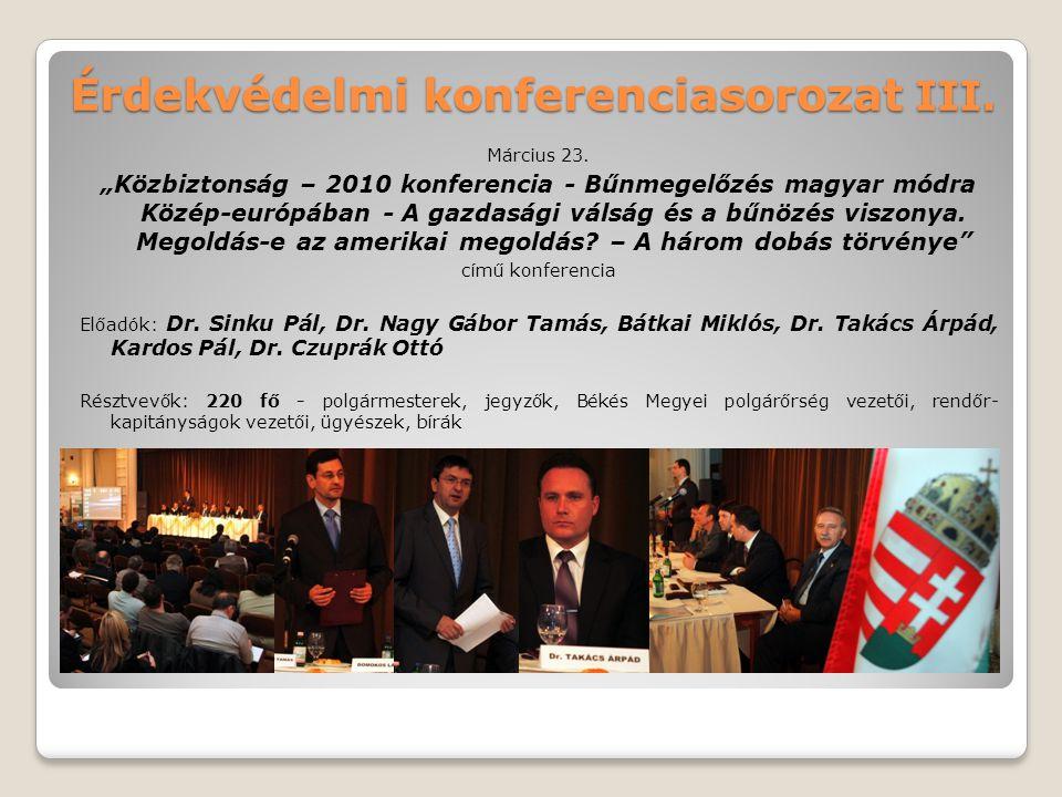 Érdekvédelmi konferenciasorozat III.