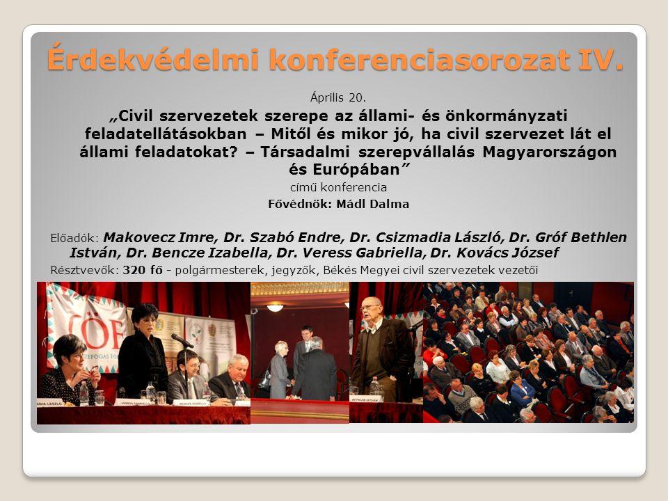 Érdekvédelmi konferenciasorozat IV.