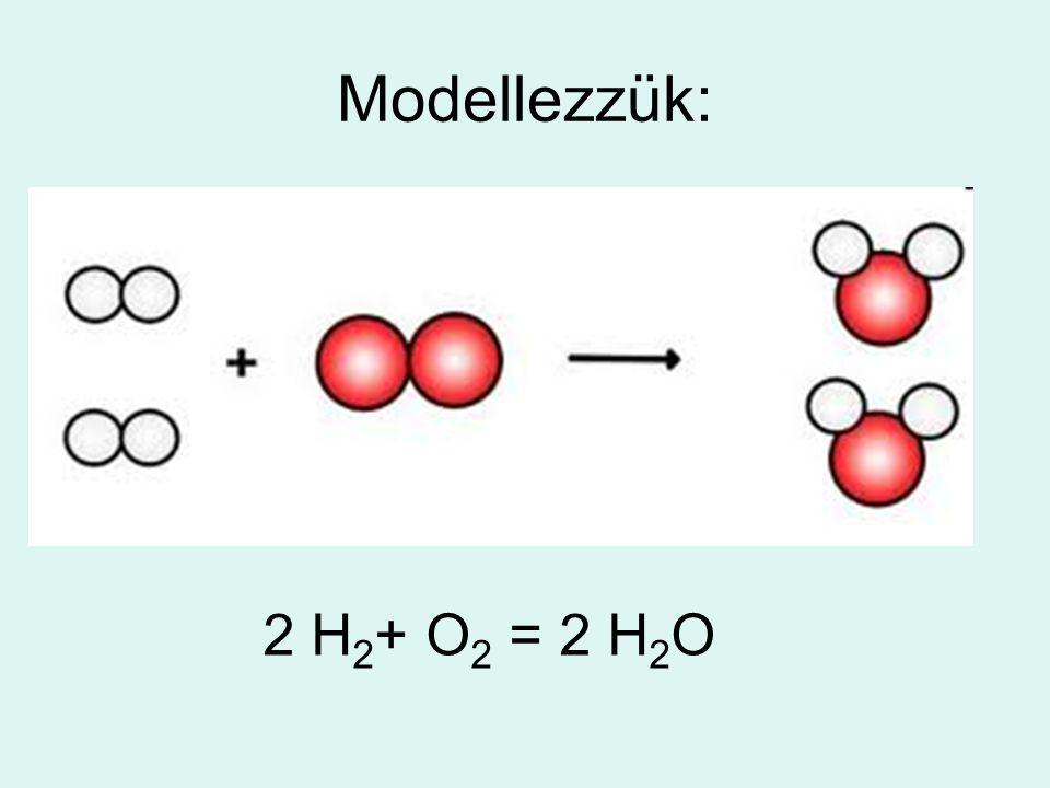 Modellezzük: 2 H2+ O2 = 2 H2O
