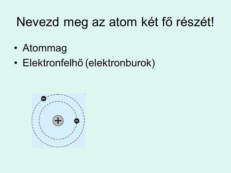 Nevezd meg az atom két fő részét!