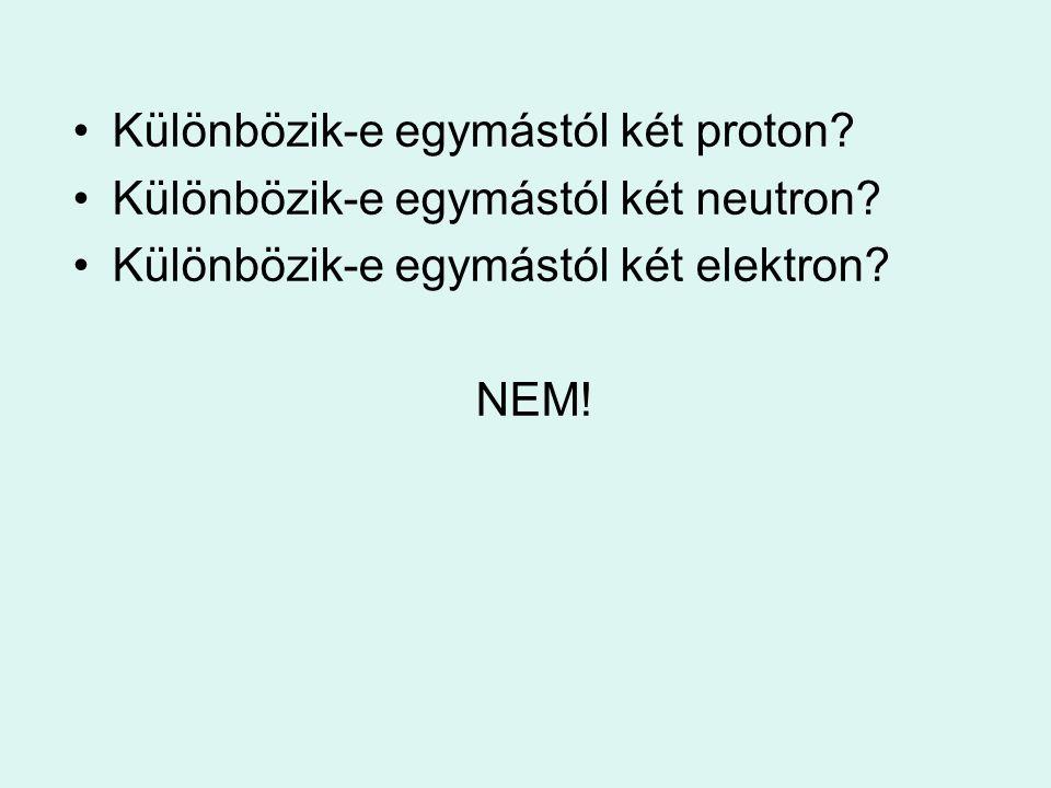 Különbözik-e egymástól két proton