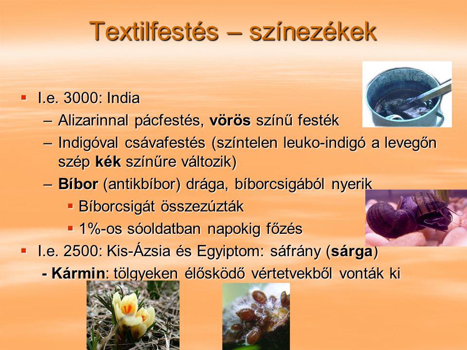 Textilfestés – színezékek