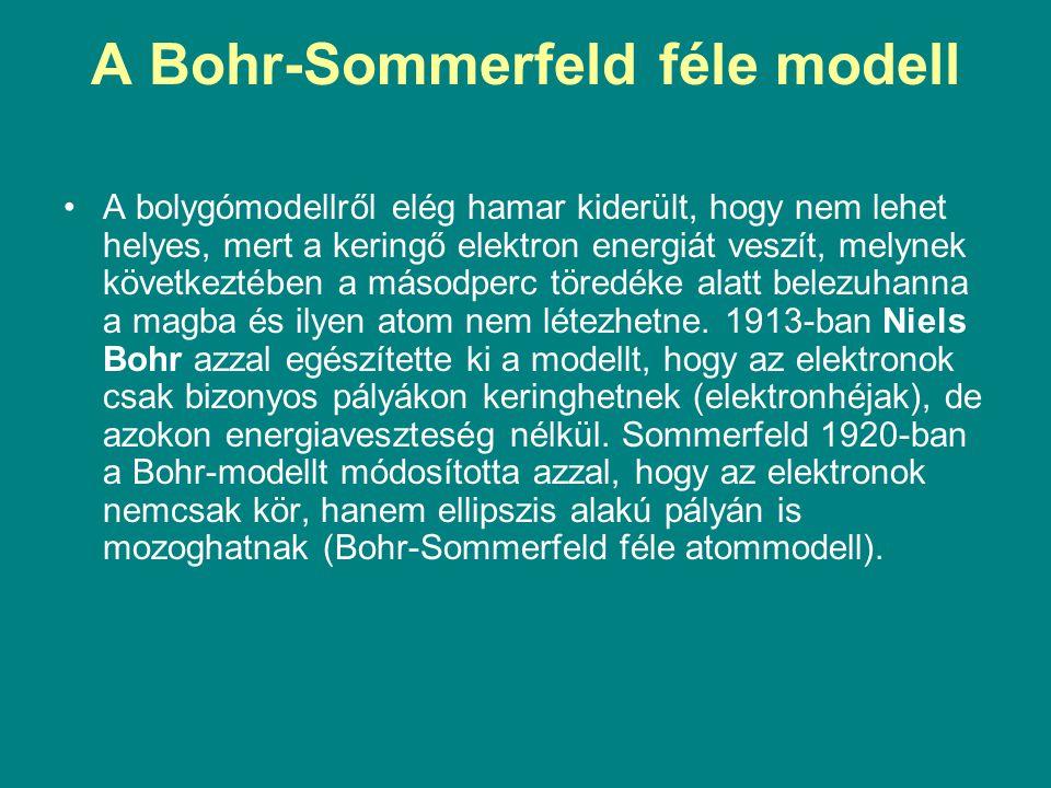 A Bohr-Sommerfeld féle modell