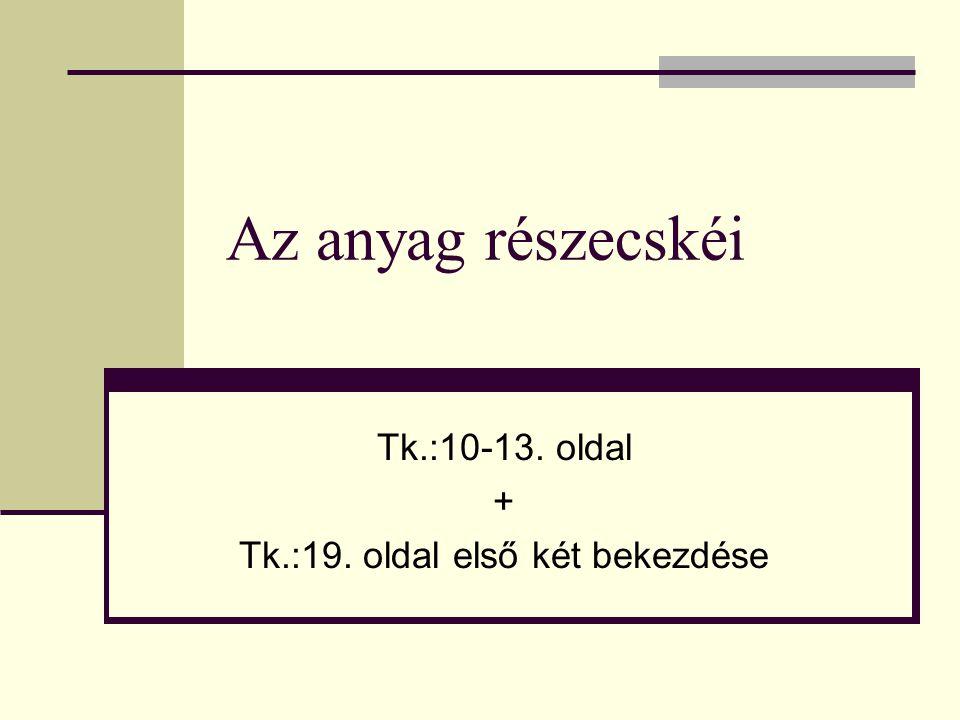 Tk.:10-13. oldal + Tk.:19. oldal első két bekezdése