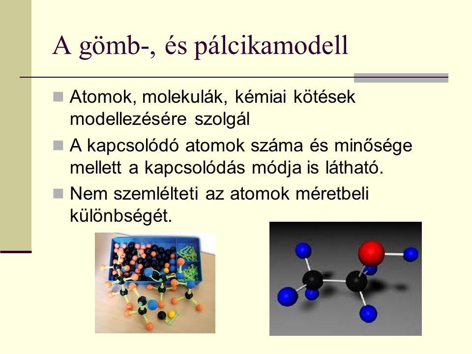 A gömb-, és pálcikamodell
