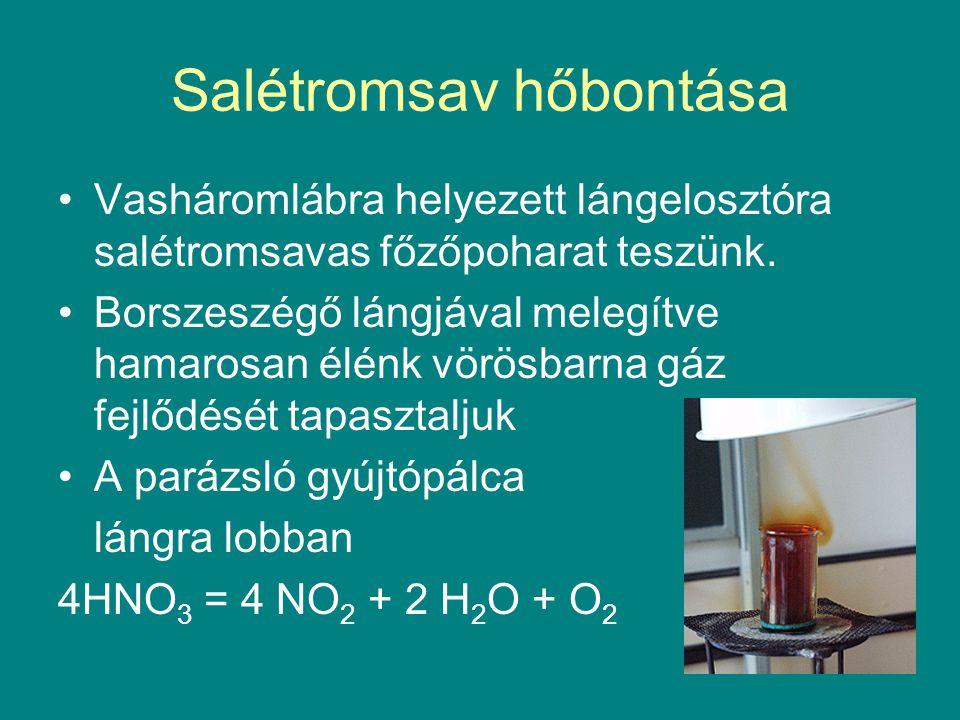 Salétromsav hőbontása