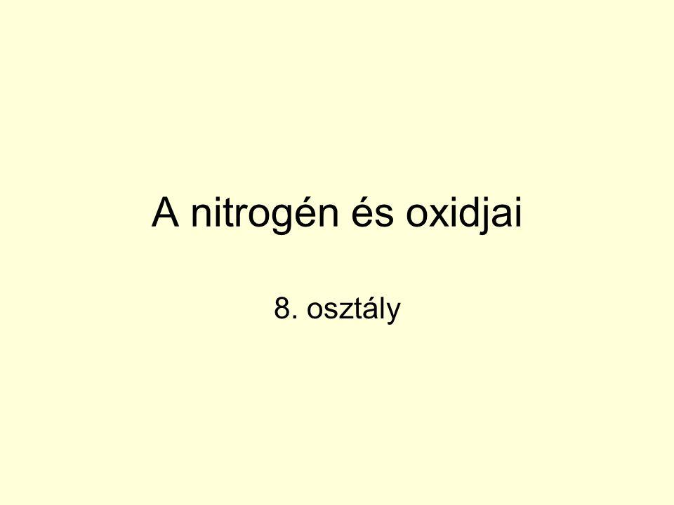A nitrogén és oxidjai 8. osztály