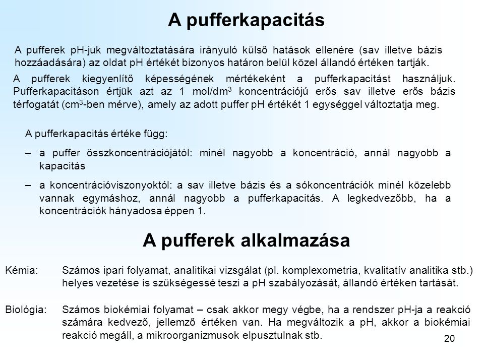 A pufferek alkalmazása