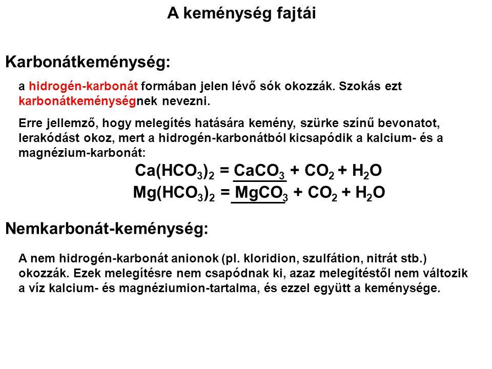 Nemkarbonát-keménység: