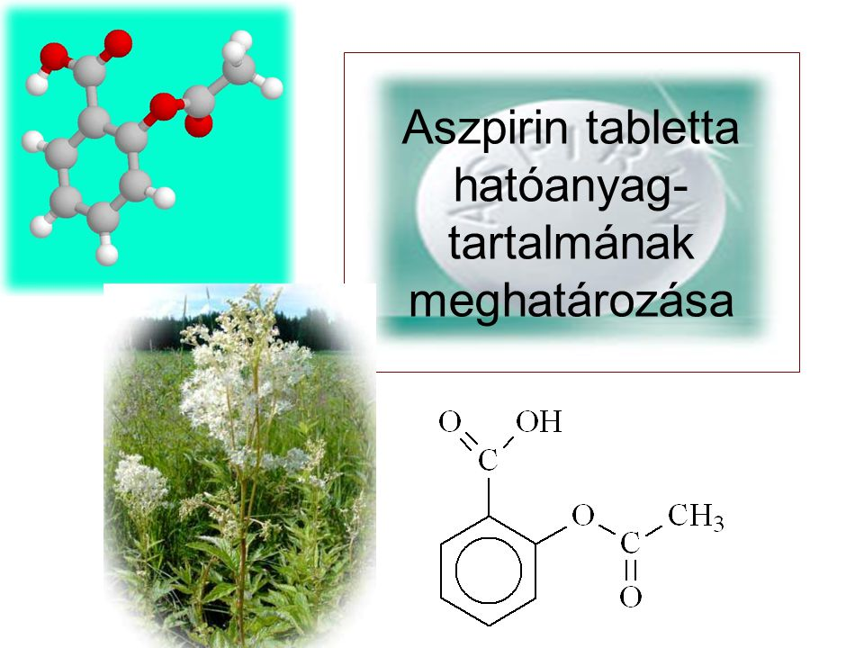 Aszpirin tabletta hatóanyag- tartalmának meghatározása