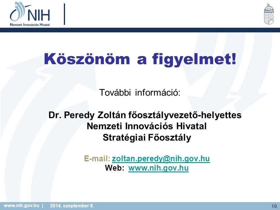 Nemzeti Innovációs Hivatal E-mail: zoltan.peredy@nih.gov.hu