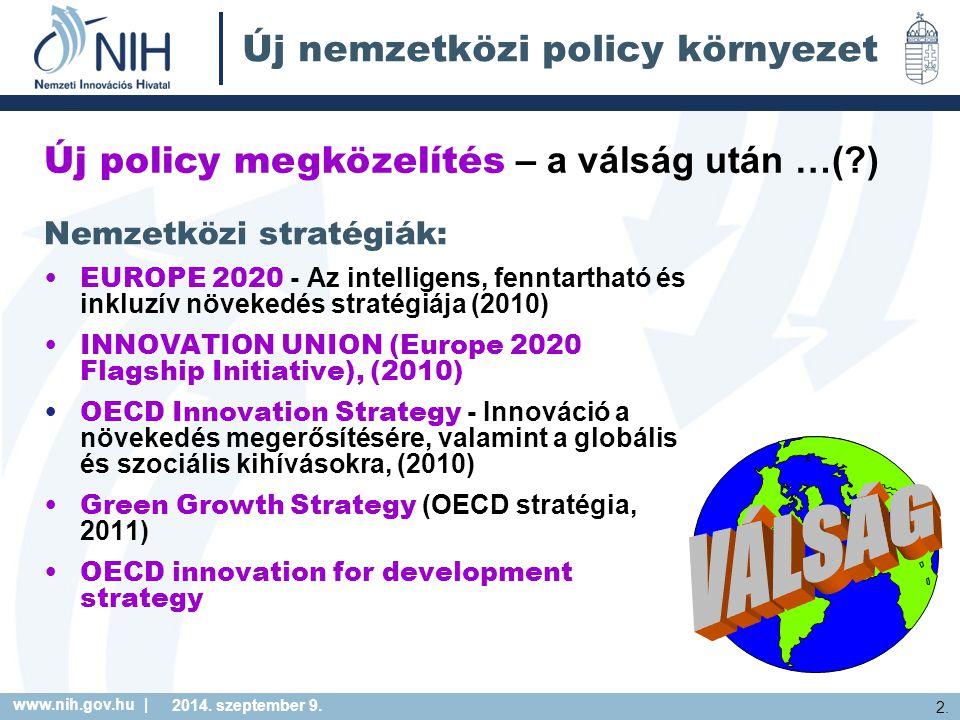 Új nemzetközi policy környezet