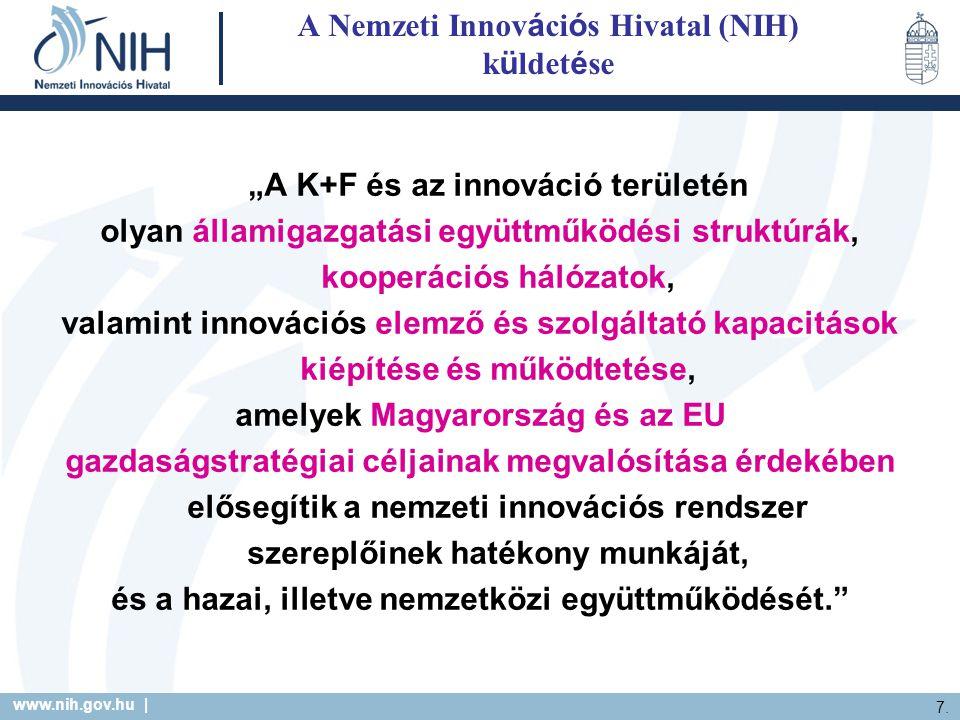 A Nemzeti Innovációs Hivatal (NIH) küldetése