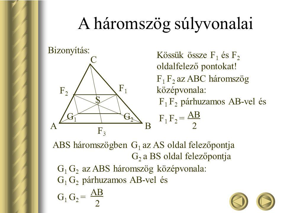 A háromszög súlyvonalai