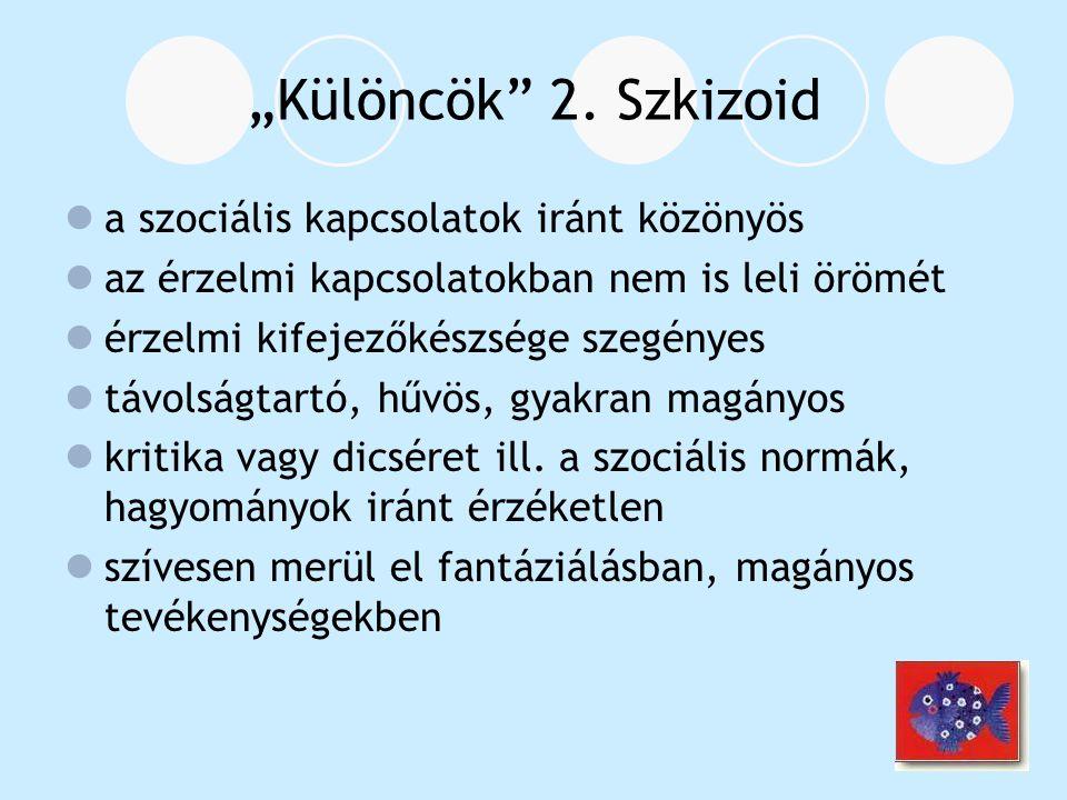 """""""Különcök 2. Szkizoid a szociális kapcsolatok iránt közönyös"""