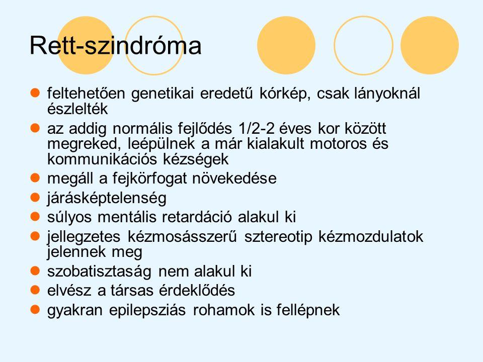 Rett-szindróma feltehetően genetikai eredetű kórkép, csak lányoknál észlelték.
