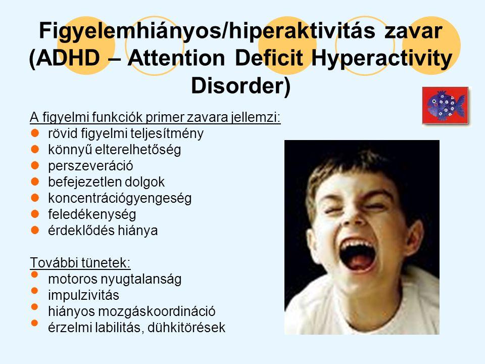 Figyelemhiányos/hiperaktivitás zavar (ADHD – Attention Deficit Hyperactivity Disorder)