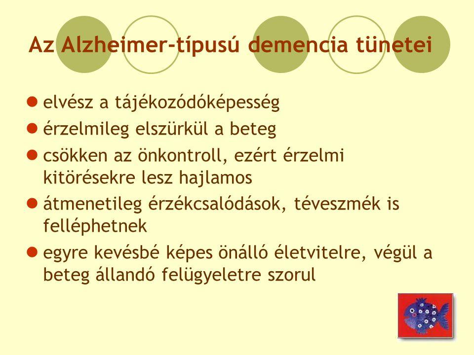 Az Alzheimer-típusú demencia tünetei