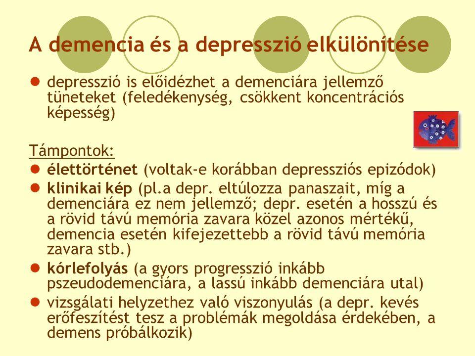 A demencia és a depresszió elkülönítése