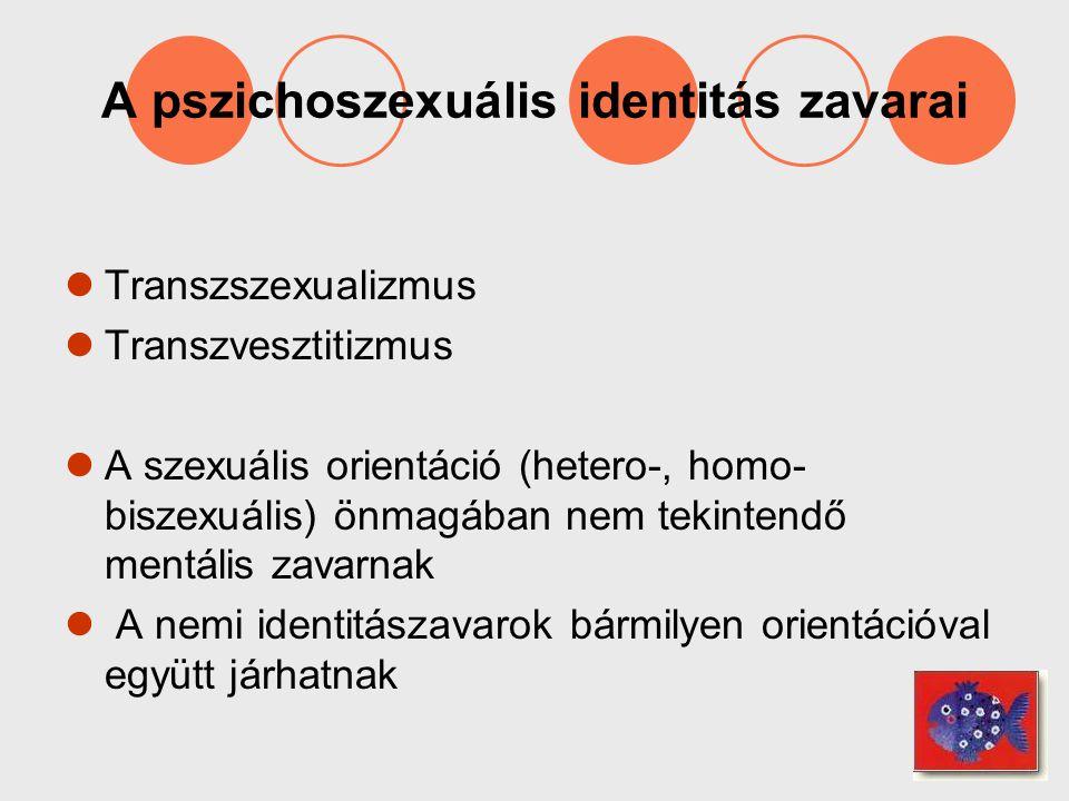 A pszichoszexuális identitás zavarai