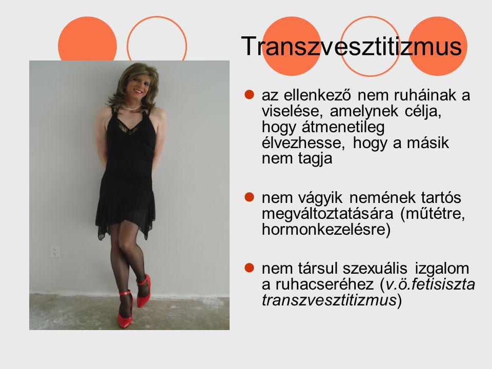 Transzvesztitizmus az ellenkező nem ruháinak a viselése, amelynek célja, hogy átmenetileg élvezhesse, hogy a másik nem tagja.