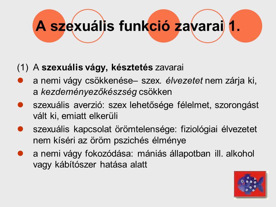 A szexuális funkció zavarai 1.